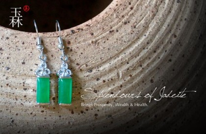Splendid Green Jade Earrings