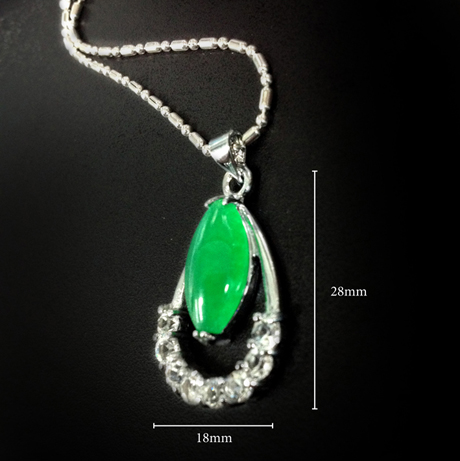 BB05866 size $88 for High Quality Splendid Green Jade Necklace