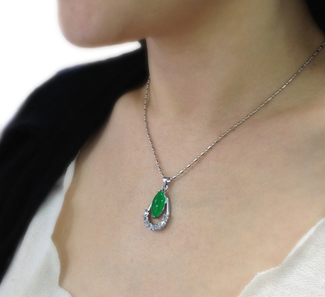 photo 5 yulin $88 for High Quality Splendid Green Jade Necklace